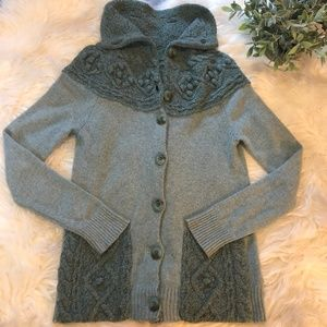 Anthopologie Sleeping on Snow Knit Cardigan